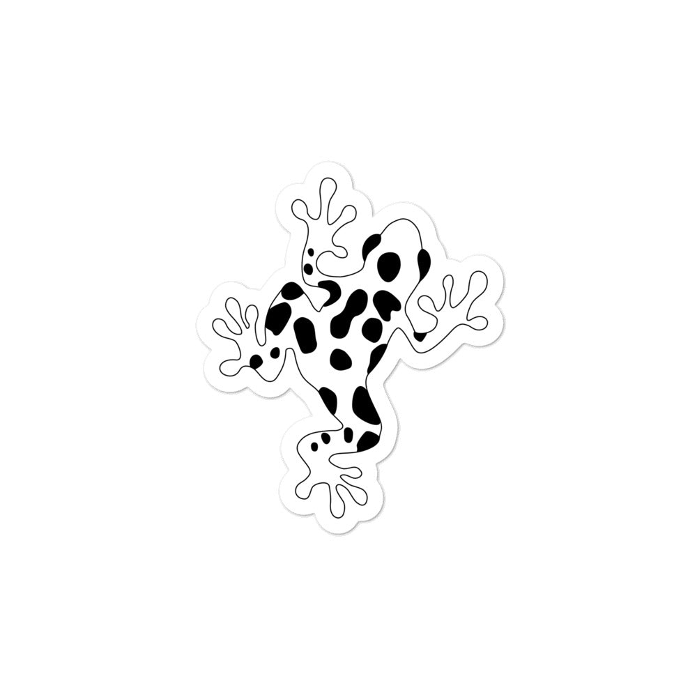 White Poison Dart Frog Kiss Cut Bubble-free Stickers