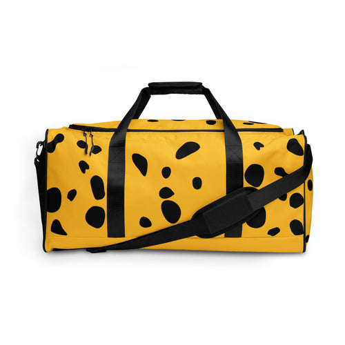 Yellow Poison Dart Frog Spots Duffle bag