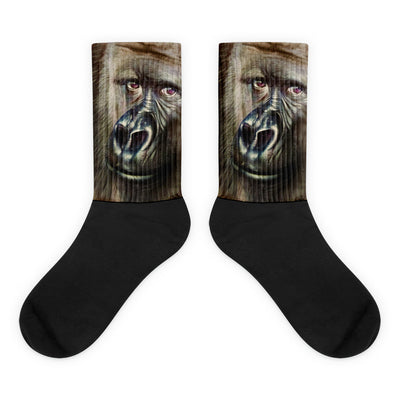 Animal Socks Gorilla Black Foot Socks Realistically Detailed Gorilla Thick Ribbing, Cushioned For Maximum Comfort, Unisex Socks, Cool Socks 4endangered