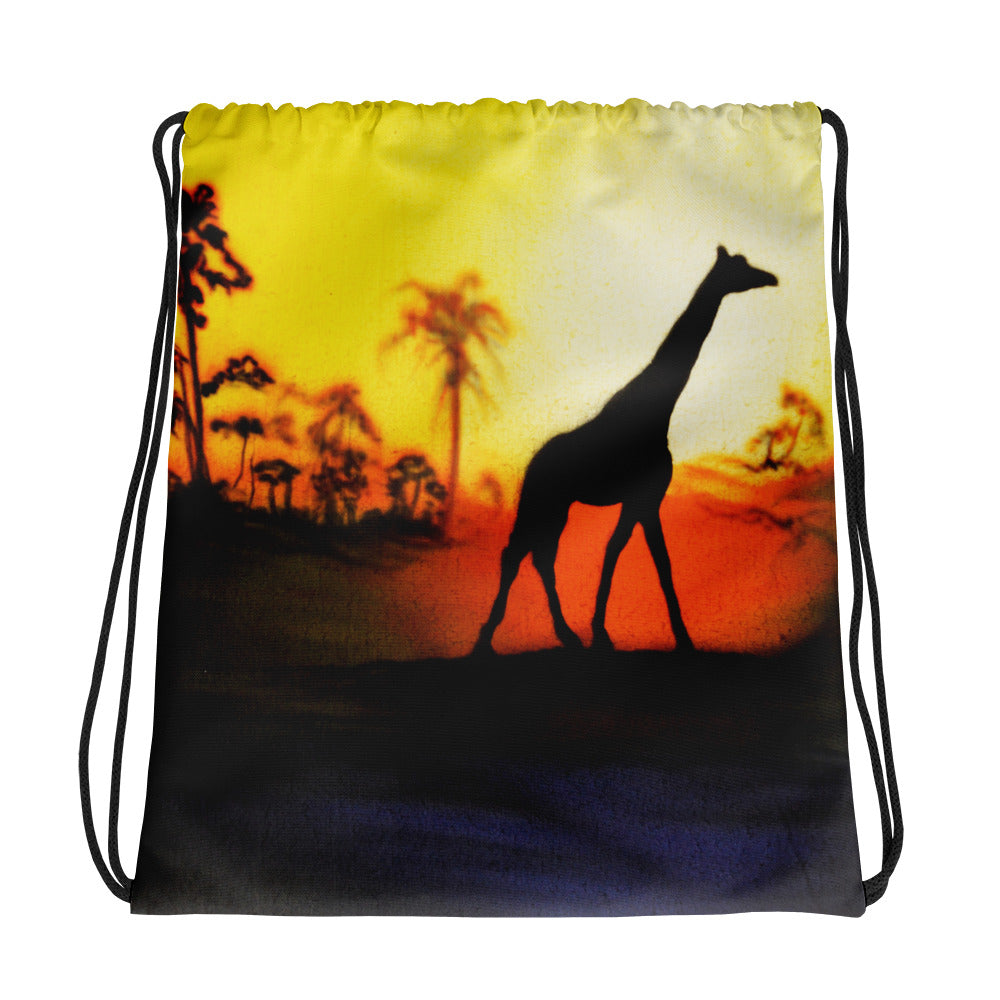 Giraffe Drawstring Backpack/Bag