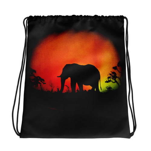 Elephant Drawstring Bag