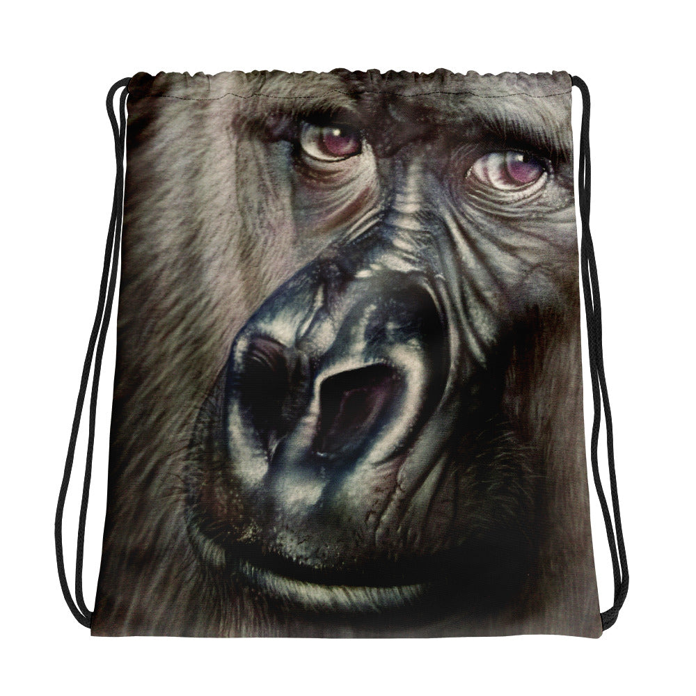 Gorilla Drawstring Backpack/Bag