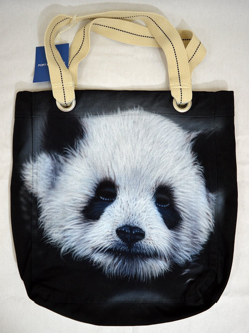 Panda Bear Tote Bag Cotton Canvas Realistic Detail Airbrushed Panda Love Port Authority-Backpack-4Endangered