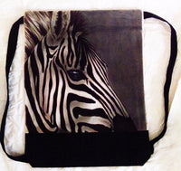 Zebra Backpack/Sport Bag Realistic Detail Airbrushed Zebra Love