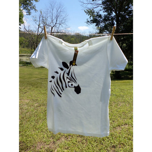 Zebra T-Shirt Airbrushed-Airbrushed tshirts-4Endangered