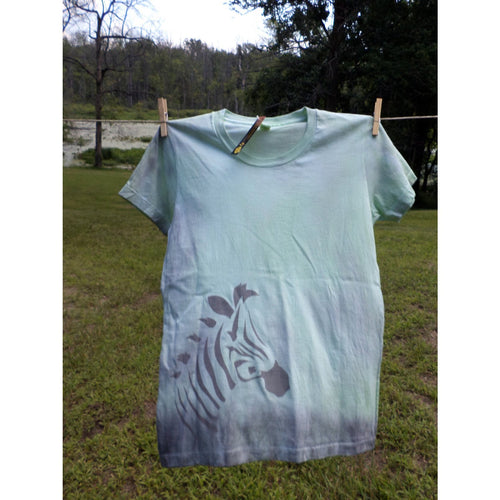 Zebra T-Shirt Hand-Dyed Airbrushed-Airbrushed tshirts-4Endangered