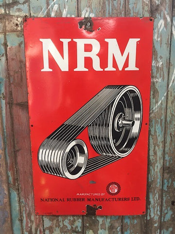 National rubber manufacturers enamel sign