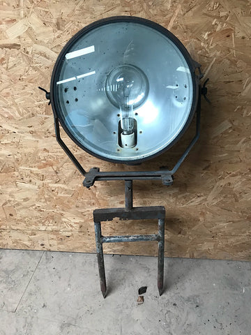 Vintage industrial 1940s GEC floor spot light