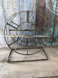 Beautiful rustic vintage metal remploy garden hose reel
