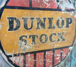 Vintage Dunlop stock round 1930s advertising sign
