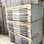 Amazing vintage metal industrial plan chest