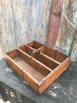 Vintage Wooden sectional Trug Kitchen Tidy Tray garage garden craft sew