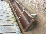 Original salvaged 6ft galvanised farm water feeder trough garden planter