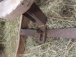 Antique vintage 20s double wooden toboggan with steering wheel