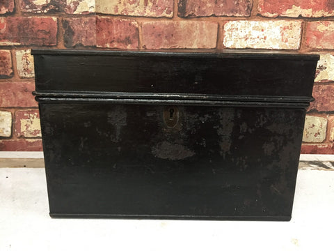 Vintage industrial deed steel storage box