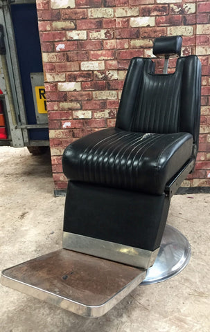 Vintage 60s barbers hairdressers chair
