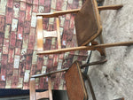 Pair of Vintage folding wooden church chapel chairs The Drifter