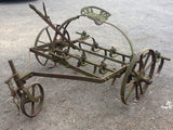 Vintage farm equipment old Ransomes cast iron SHC 7 Cultivator