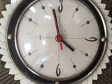 Metamec vintage sunburst wall clock 1950s