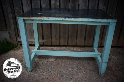 Vintage Industrial Large Wooden Work Bench shop fitting table workshop