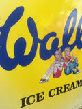 Collectable vintage metal tin Walls ice cream advertising sign