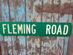 Collectable vintage American road street sign Fleming road