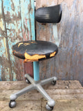 Vintage medical 50s Sterling Operating Stool Chair