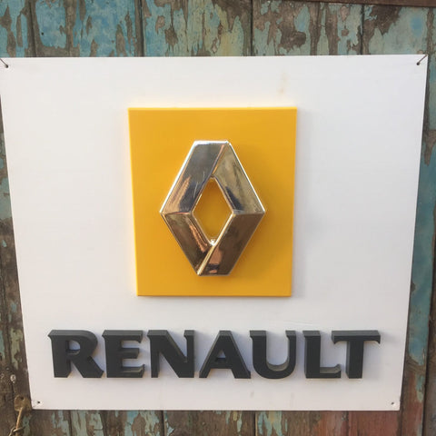 Collectable dealership large Renault advertising sign
