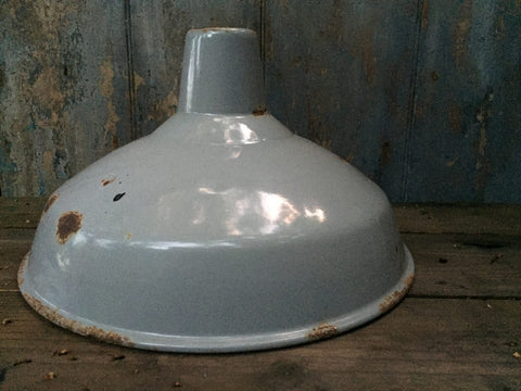 50s industrial grey lamp shade