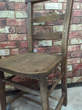 Vintage pine old church chapel dining room study office chair