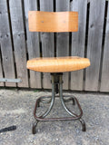 Vintage Industrial Swivel Bentwood & Metal Desk Chair Machinist or Architects Chair