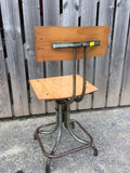 Vintage Industrial metal Swivel Bentwood Chair Machinist Architects