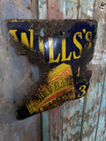 Enamel Wills gold flake original sign