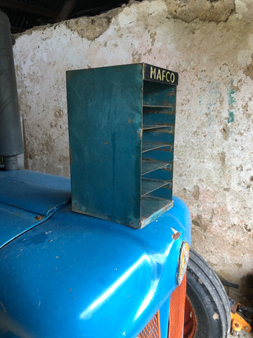Vintage industrial Mafco classic car metal storage cabinet