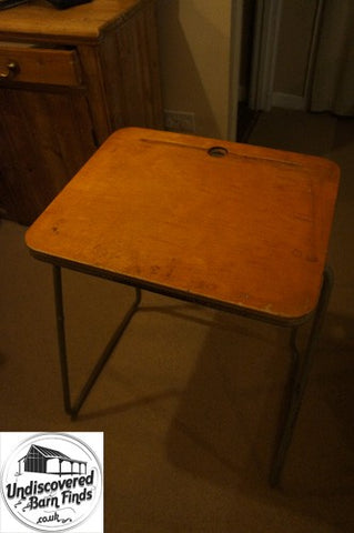 Vintage tublar steel school desk