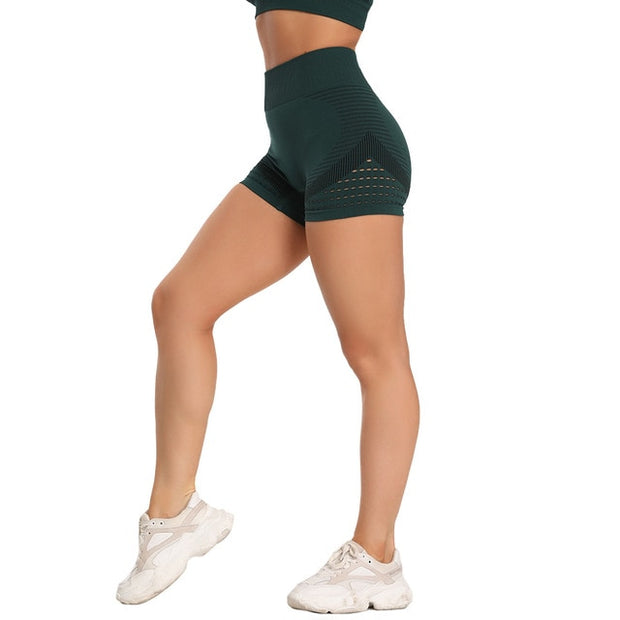 High Waist Seamless Summer Yoga Shorts