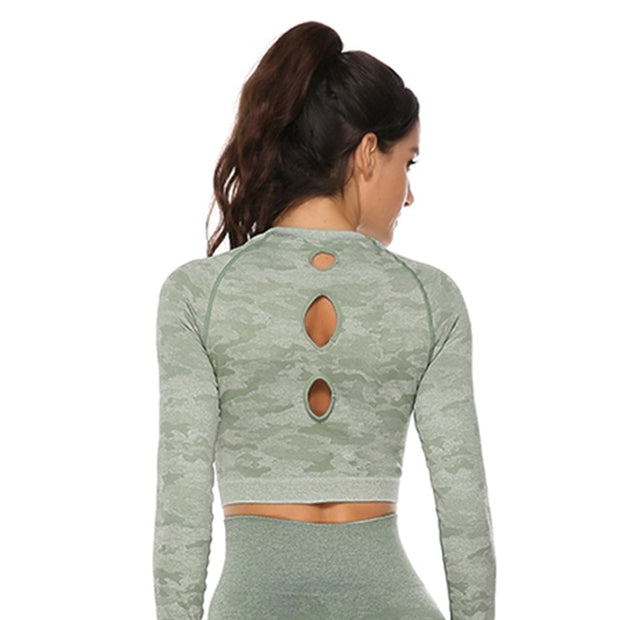 Seamless Long Sleeves Full Workout Tops