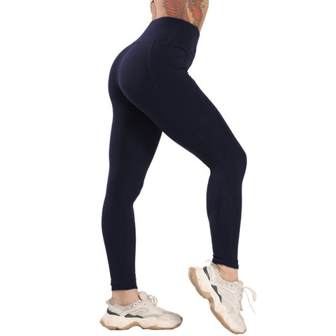 Seamless Yoga Pants with Pocket
