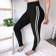 White Striped Summer Yoga Pants