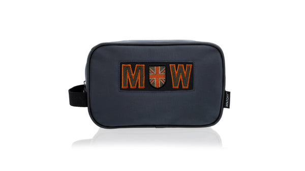 Sports Wash Bag - Orange Letters