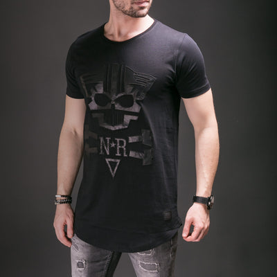 N&R Men Mean Cat Faux Leather T-shirt - Black - FASH STOP