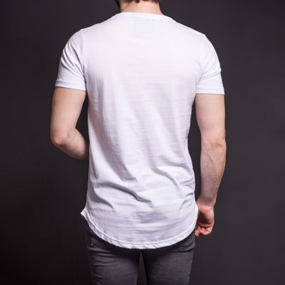 N&R Men 3 Tone Stains T-shirt - White - FASH STOP