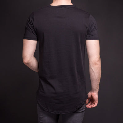 N&R Men 3 Tone Stains T-shirt - Black - FASH STOP