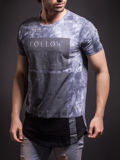 "N&R Men ""Follow Route 708"" T-shirt - Gray"