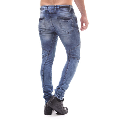 P&V Men Slim Fit Easy Jeans - Blue