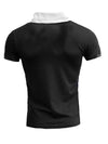 R&R Men Pat Mock Neck Pocket T-Shirt - Black