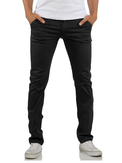 R&R Men Slim Fit Chinos Pants - Black