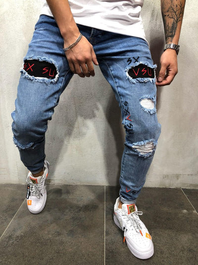 VSU Ripped Jeans - Blue 3819