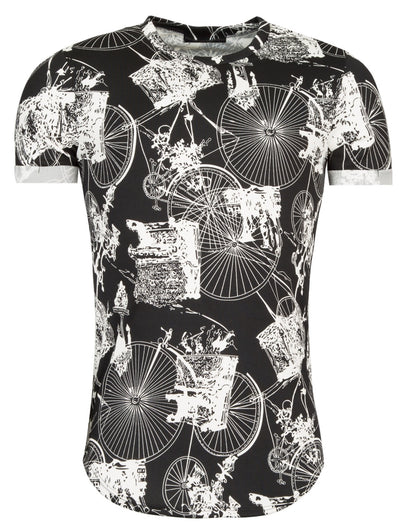 Y&R Men Big Wheel Bicycle T-Shirt - Black