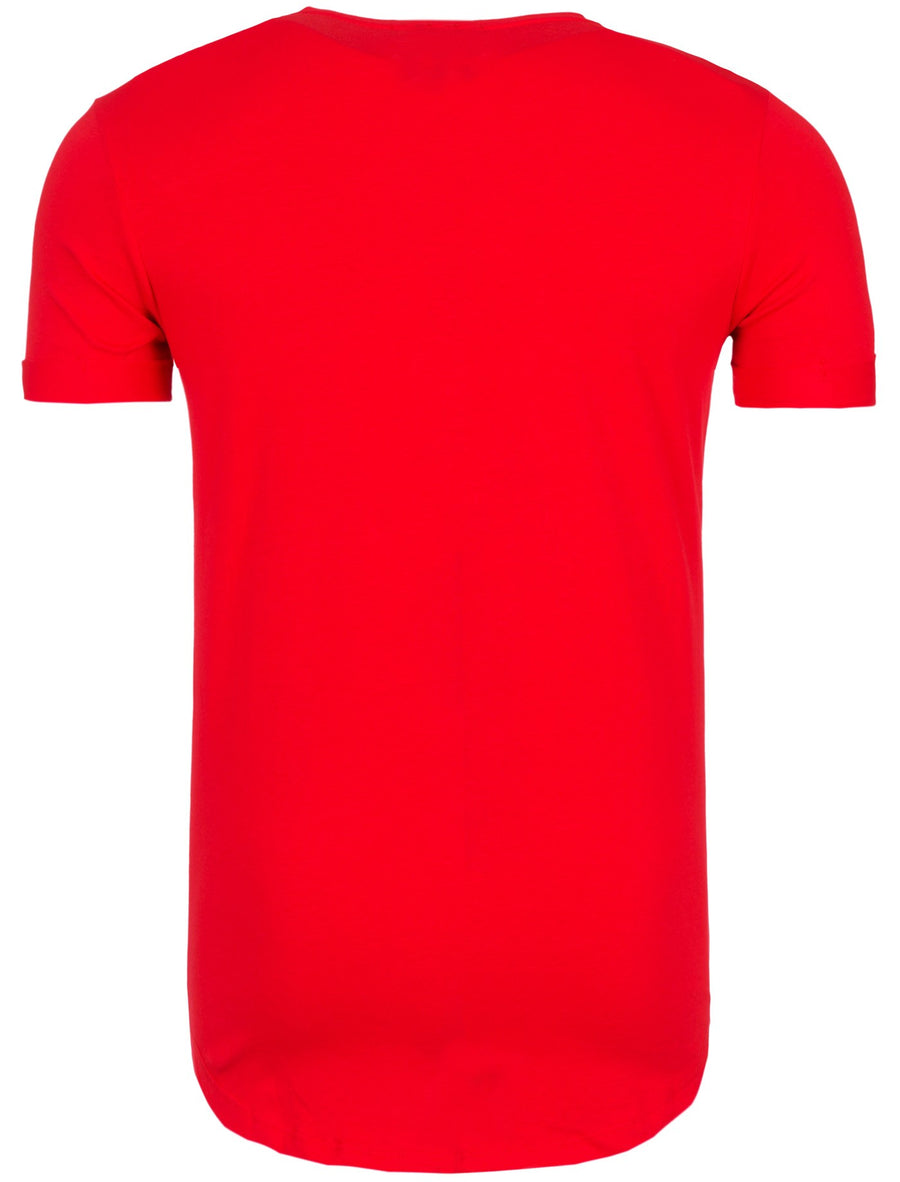 Y&R Men Graphic NY New York USA T-Shirt - Red